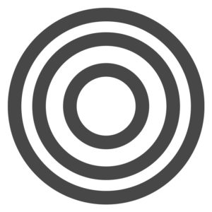 Miss Menopause logo grey target