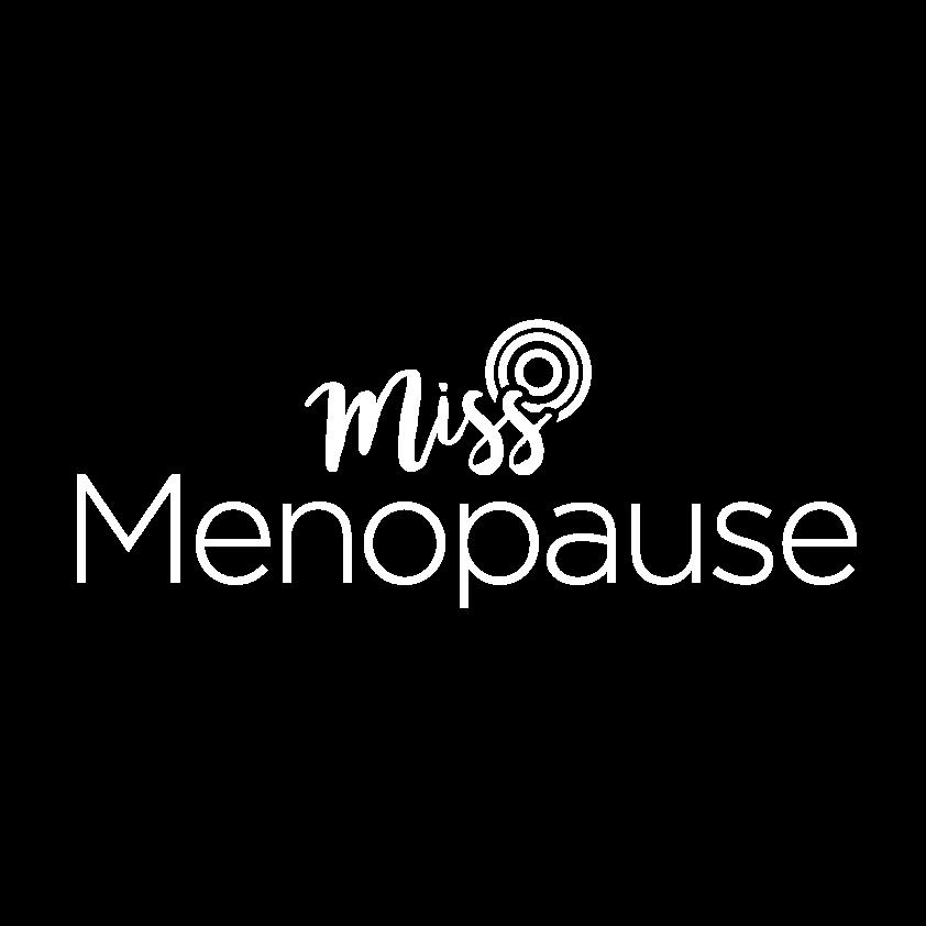 Miss Menopause logo white