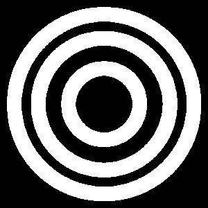Miss Menopause logo white target